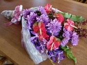 ダリアとアンスの花束