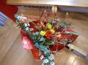 チューリップさんごみずき花束