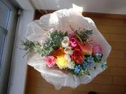 白い和紙の花束