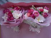 チューリップとラナンの花束