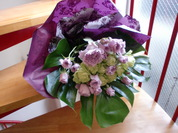 緑のバラの花束
