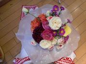 裕子ちゃんに贈った花束