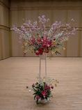 春のピアノの発表会の舞台花