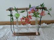 試験管の花器