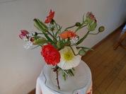 チューリップとポピーの花束