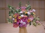ピアノの発表会の舞台花